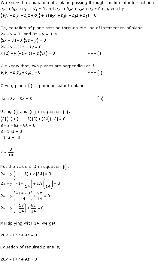 RD Sharma Class 12 Solutions Chapter 29 The Plane 29.7 Q5