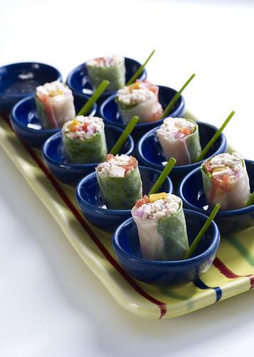 Fresh Smoked Fish Spring Rolls
