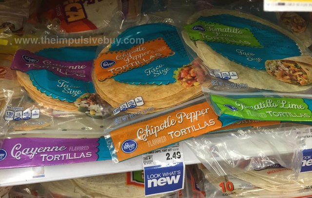 Kroger Flavored Tortillas (Cayenne, Chipotle Pepper, Tomatilto Lime)