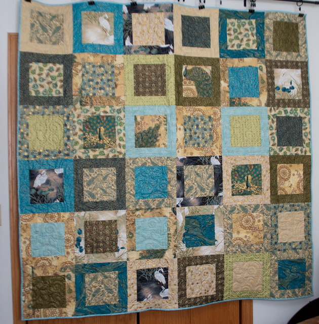 Peacock Quilt for my mother