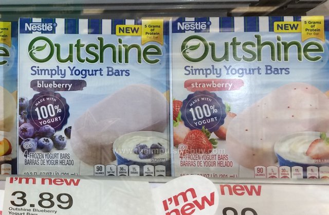 Nestle Outshine Simply Yogurt Bars (Blueberry and Strawberry)