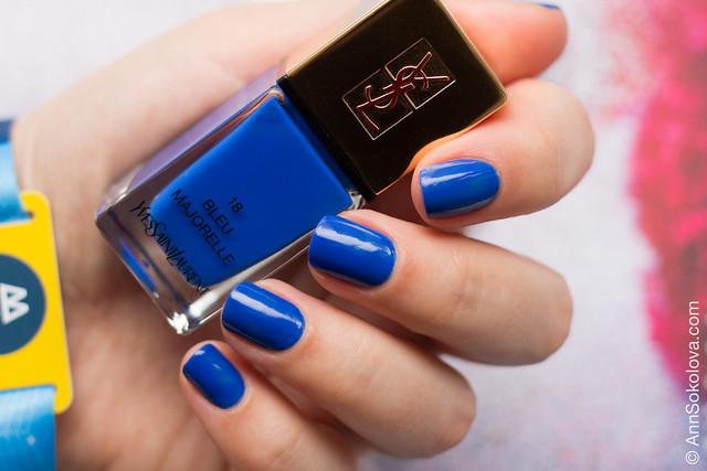 01 YSL #18 Bleu Majorelle Ann Sokolova swatch