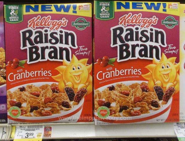 Kellogg's Raisin Bran with Cranberries