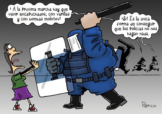 Indefensos. Cartón de Patricio