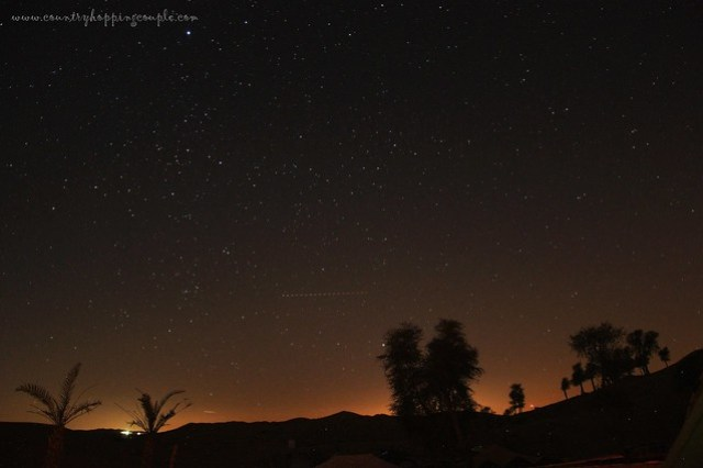 Desert Sunrise Star Gazing