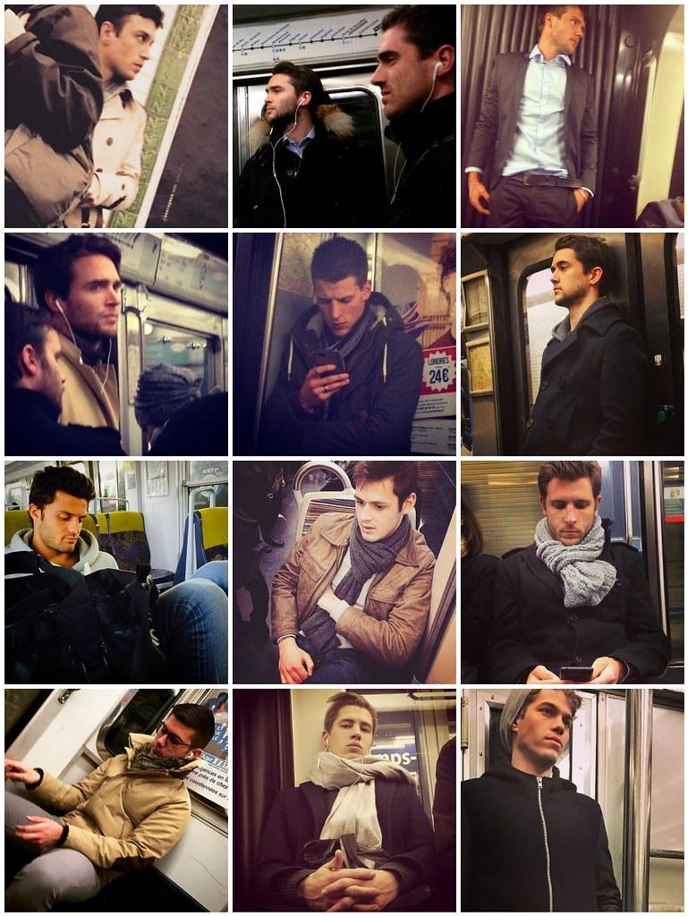 Hot men on the Metro