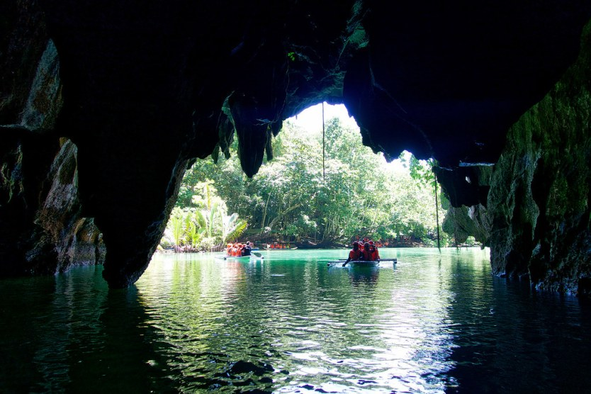 Headed out of the Underground River.