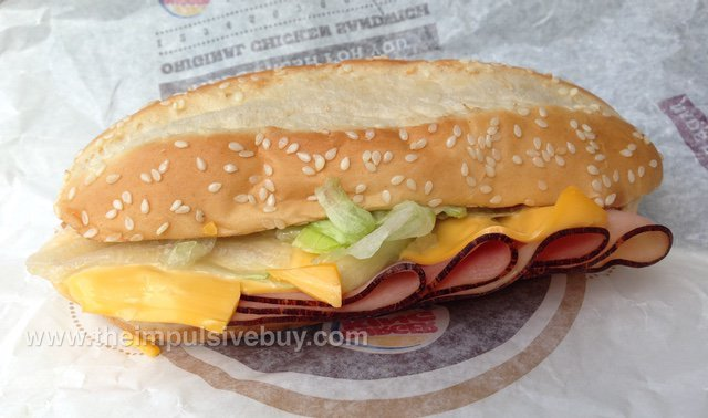Burger King YUMBO Hot Ham & Cheese Sandwich