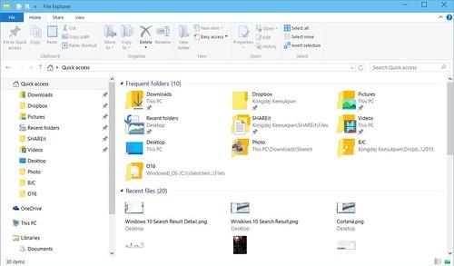 Windows 10 Quick Access
