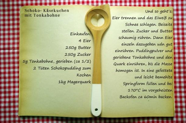 Einkaufszettel Schokokäsekuchen mit Tonkabohne by Glasgeflüster