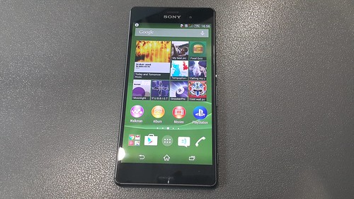 Sony Xperia Z3 ด้านหน้า