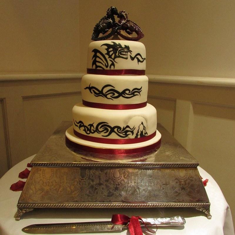 Tribal Dragon Wedding cake