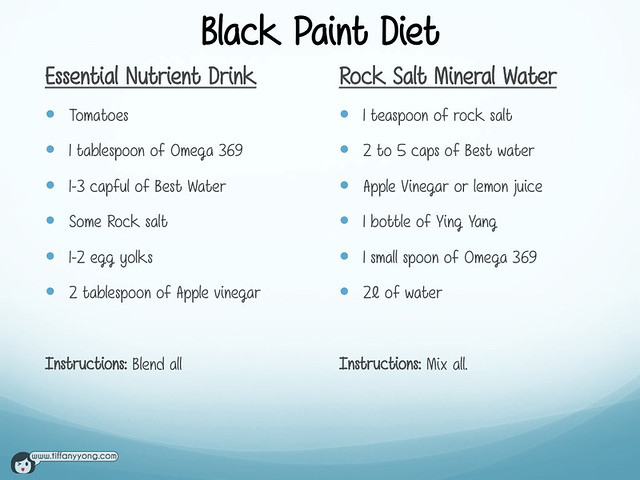 Black Paint Diet recipe