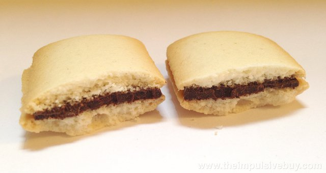 TJ's Crispy Cookies Filled with Belgian Chocolate insides