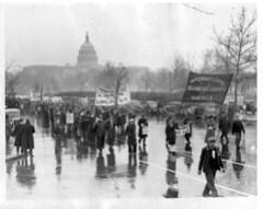 Seamen March in Rain in D.C. Protest #2: 1937