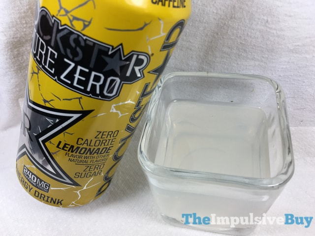 Rockstar Pure Zero Lemonade Energy Drink 2