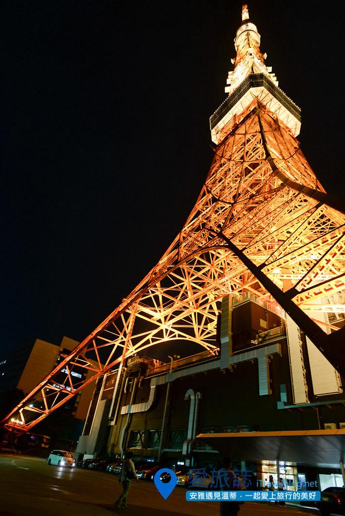 《东京景点推荐》东京铁塔 Tokyo Tower:东京经典夜景,同场加映高空惊魂健行记