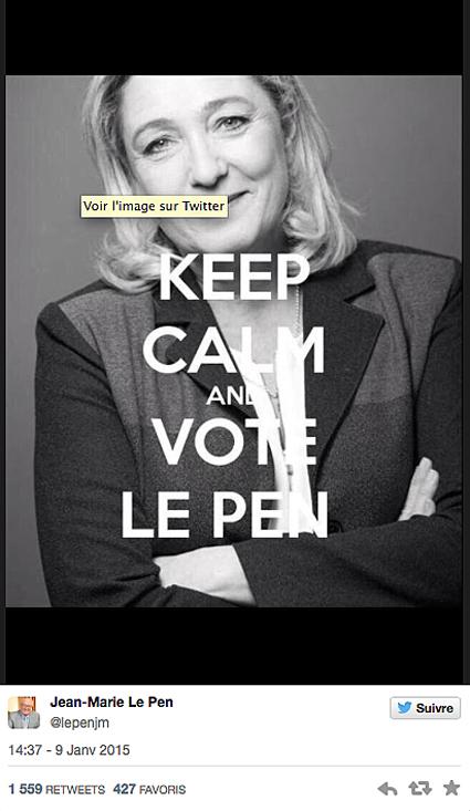 15a11 Marine Le Pen explota matanza Charlie Hebdo