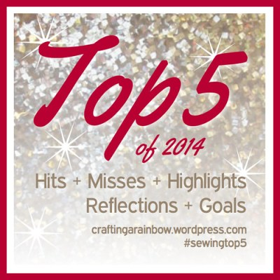 Top 5 2014 #sewingtop5