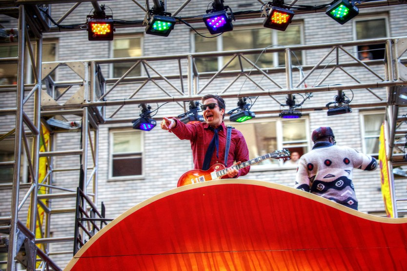 Jimmy Fallon in the parade.