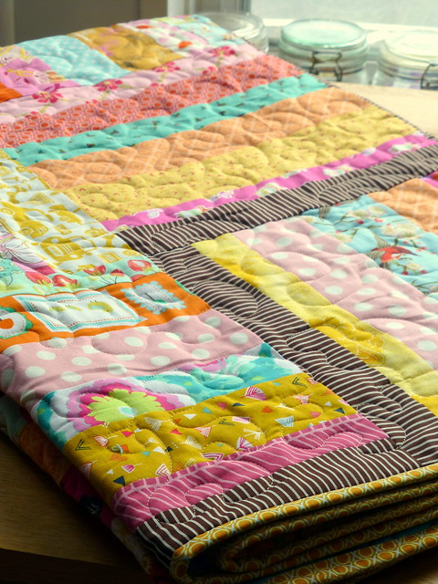 Summer Rail Fence Quilt (Pretty Patches Aug16)