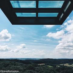 #platform with a #view #landscape #travel #wanderlust #travelgram #wilhelminatoren #tower #vsco #vscocam #blue #sky #clouds