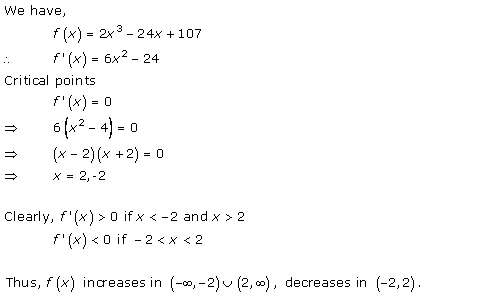 Free Online RD Sharma Class 12 Solutions Chapter 17 Increasing and Decreasing Functions Ex 17.2 Q1-xiii