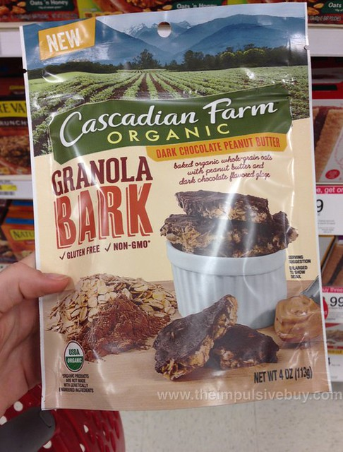 Cascadian Farm Organic Dark Chocolate Peanut Butter Granola Bark