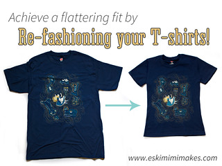 Modifying your T-shirts To Fit  Flatter