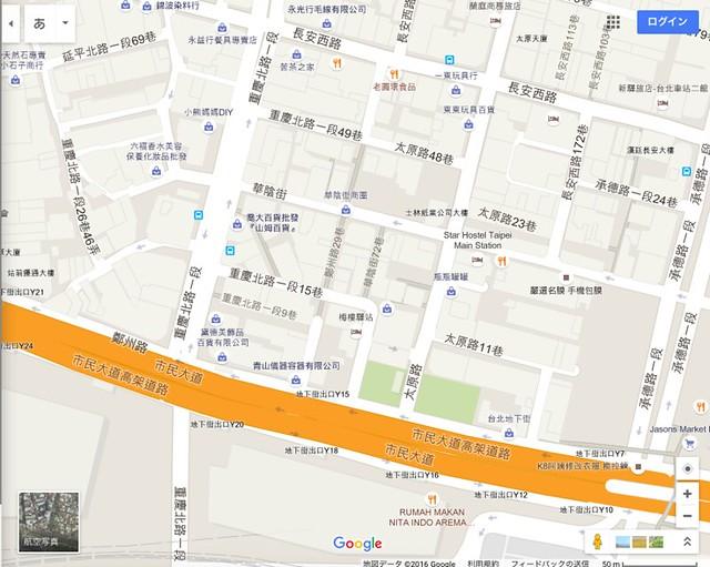 台北駅北側