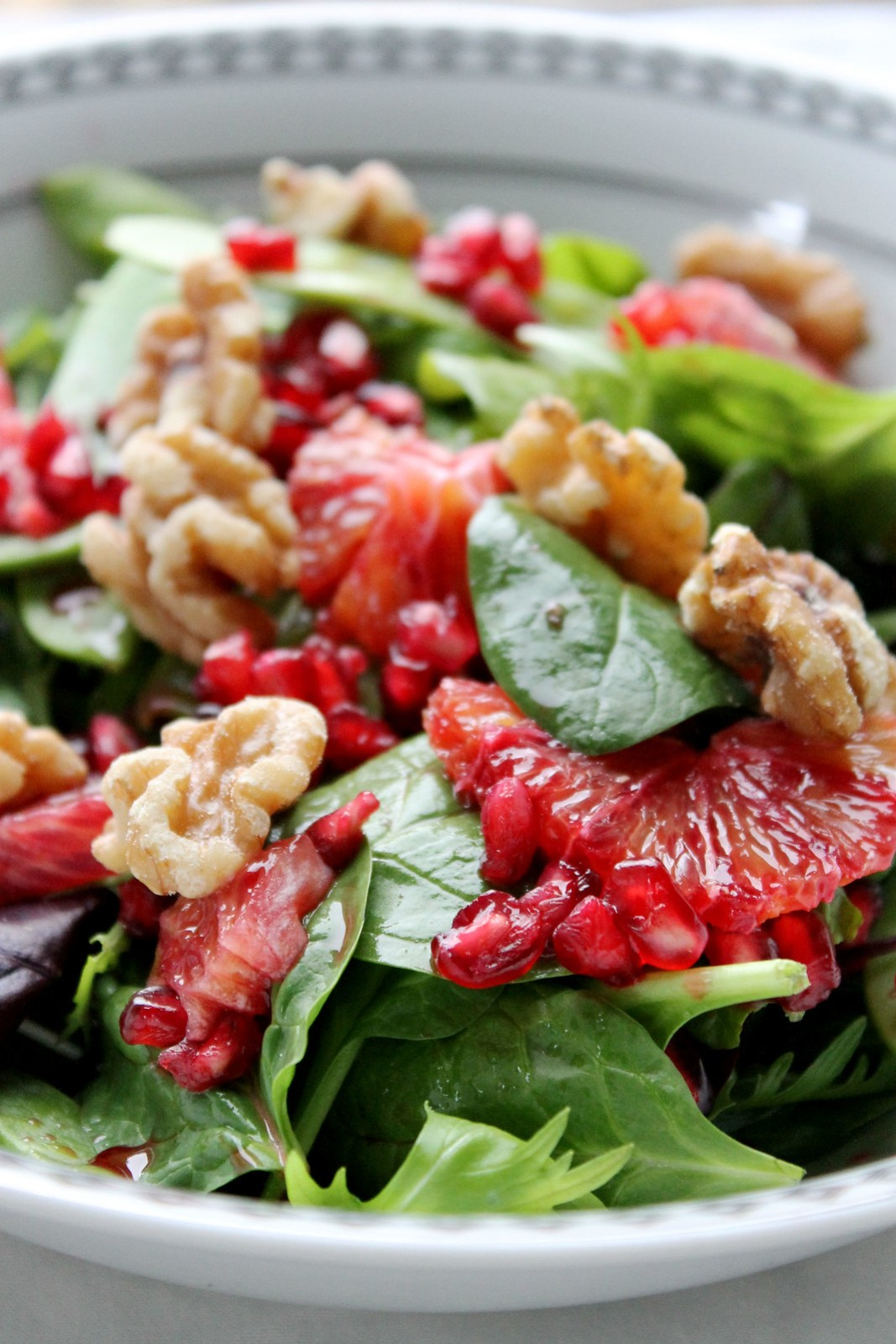 pomegranate blood orange salad
