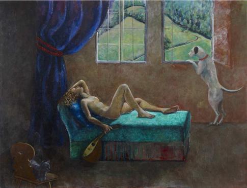 15a22 « Jeune fille à la mandoline », la dernière oeuvre de Balthus, un grand format de 190 × 250 cm, pourrait avoisiner les 5 millions de dollars à la vente Uti 485
