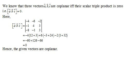 RD Sharma Class 12 Solutions Chapter 26 Scalar Triple Product Ex 26.1 Q4-ii