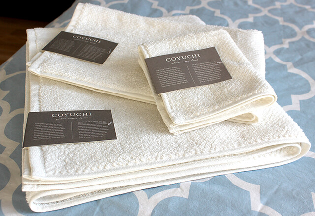 Zabada Bathroom Handy and Coyuchi Towels