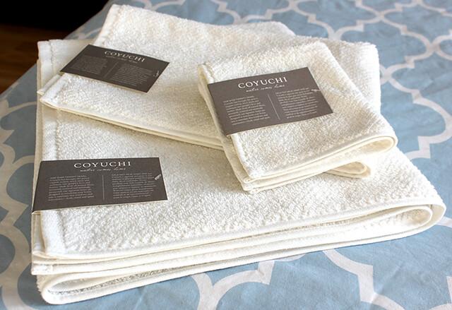 Zabada Bathroom Handy and Coyuchi Towels