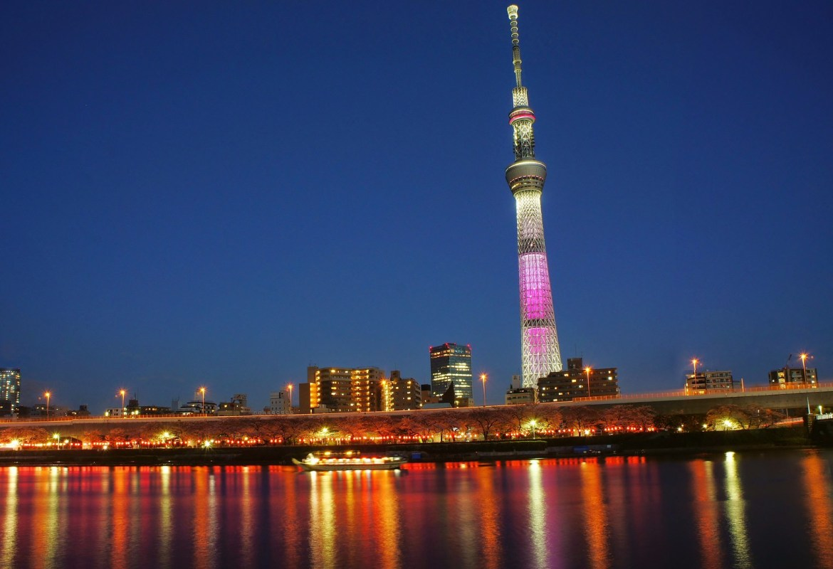 Tokyo Skytree and Cherry blossoms