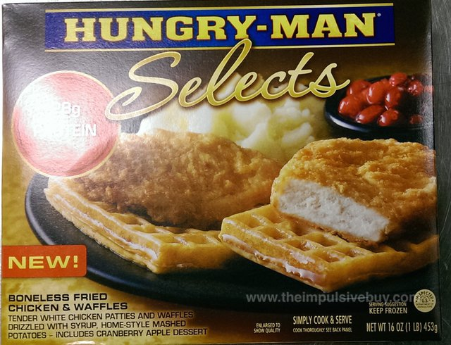 Hungry-Man Selects Boneless Fried Chicken & Waffles