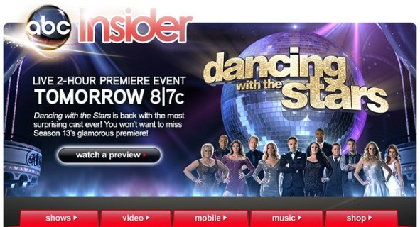 ABC.com   DANCING WITH THE STARS eBlast