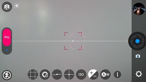 UI โหมด Pro ของแอปกล้องของ ZTE Blade v7 Lite