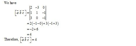 RD Sharma Class 12 Solutions Chapter 26 Scalar Triple Product Ex 26.1 Q2-i