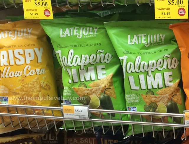 Late July Clasico Tortilla Chips (Crispy Yellow Corn and Jalapeno Lime)
