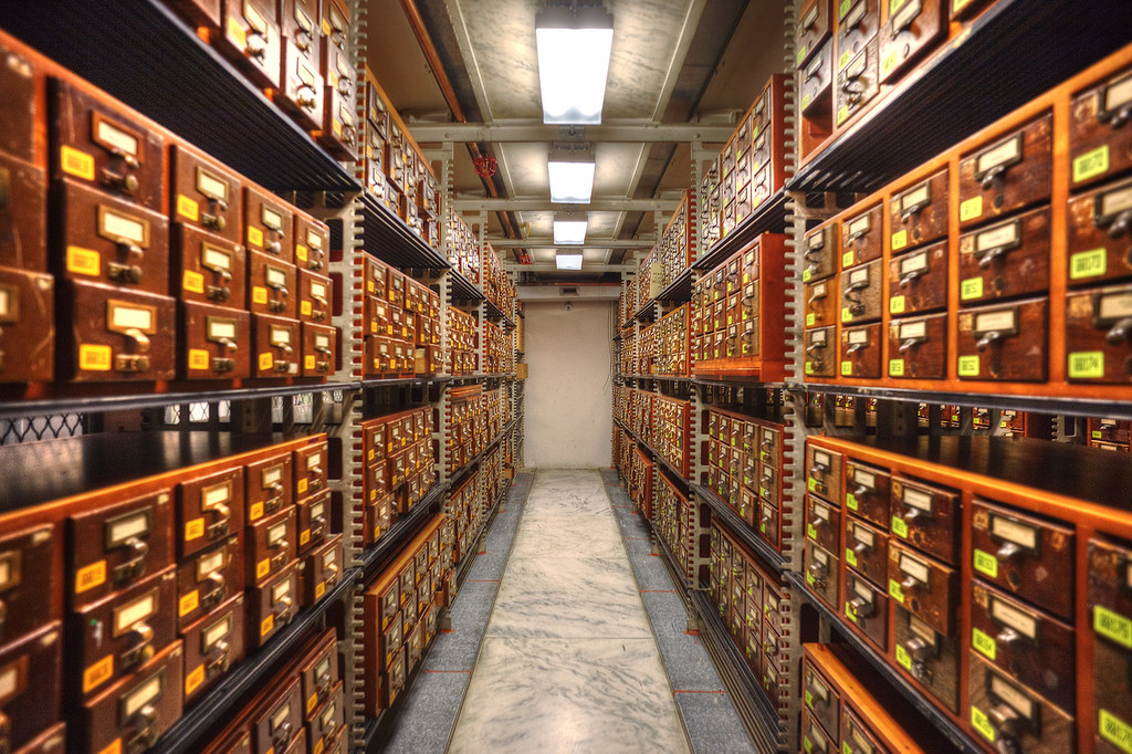 An aisle in the card catalog, Library of Congress