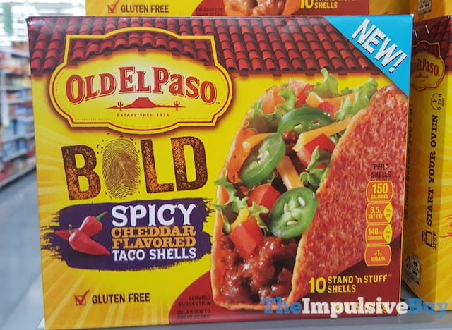 Old El Paso Bold Spicy Cheddar Flavored Taco Shells