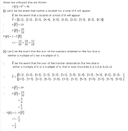 RD-Sharma-class-11 Solutions-Chapter-33-Probability-Ex-33.3-Q-29