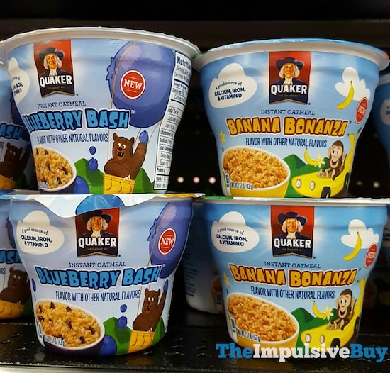 Quaker Blueberry Bash and Banana Bonanza Instant Oatmeal