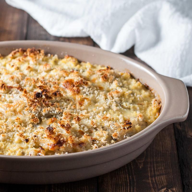 Easy vegetarian onion gratin