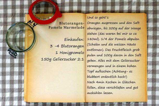 Einkaufszettel Blutorangen Pomelo Marmelade by Glasgeflüster