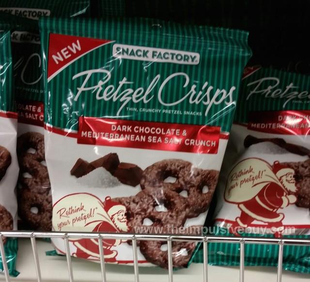 Snack Factory Pretzel Crisps Dark Chocolate & Mediterranean Sea Salt Crunch