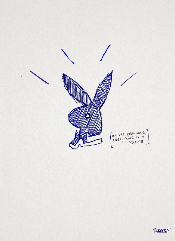 Bic Pen - In the beggining, everything is a doodle Playboy