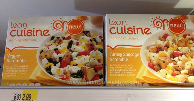 Lean Cuisine Morning Collection Veggie Scramble and Turkey Sausage Scramble